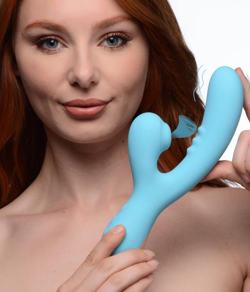 8x Silicone Suction Rabbit – Teal
